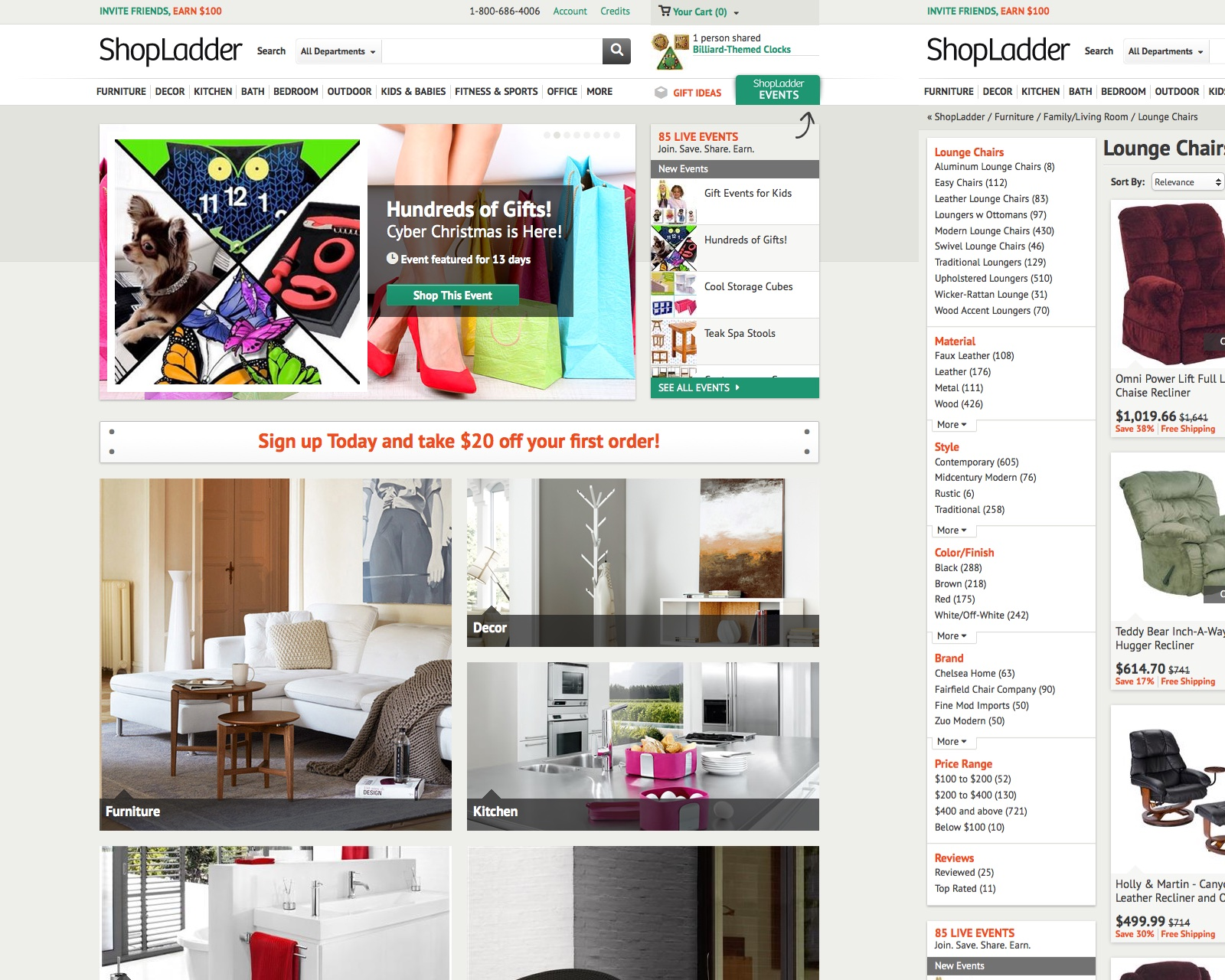 ShopLadder Website Design