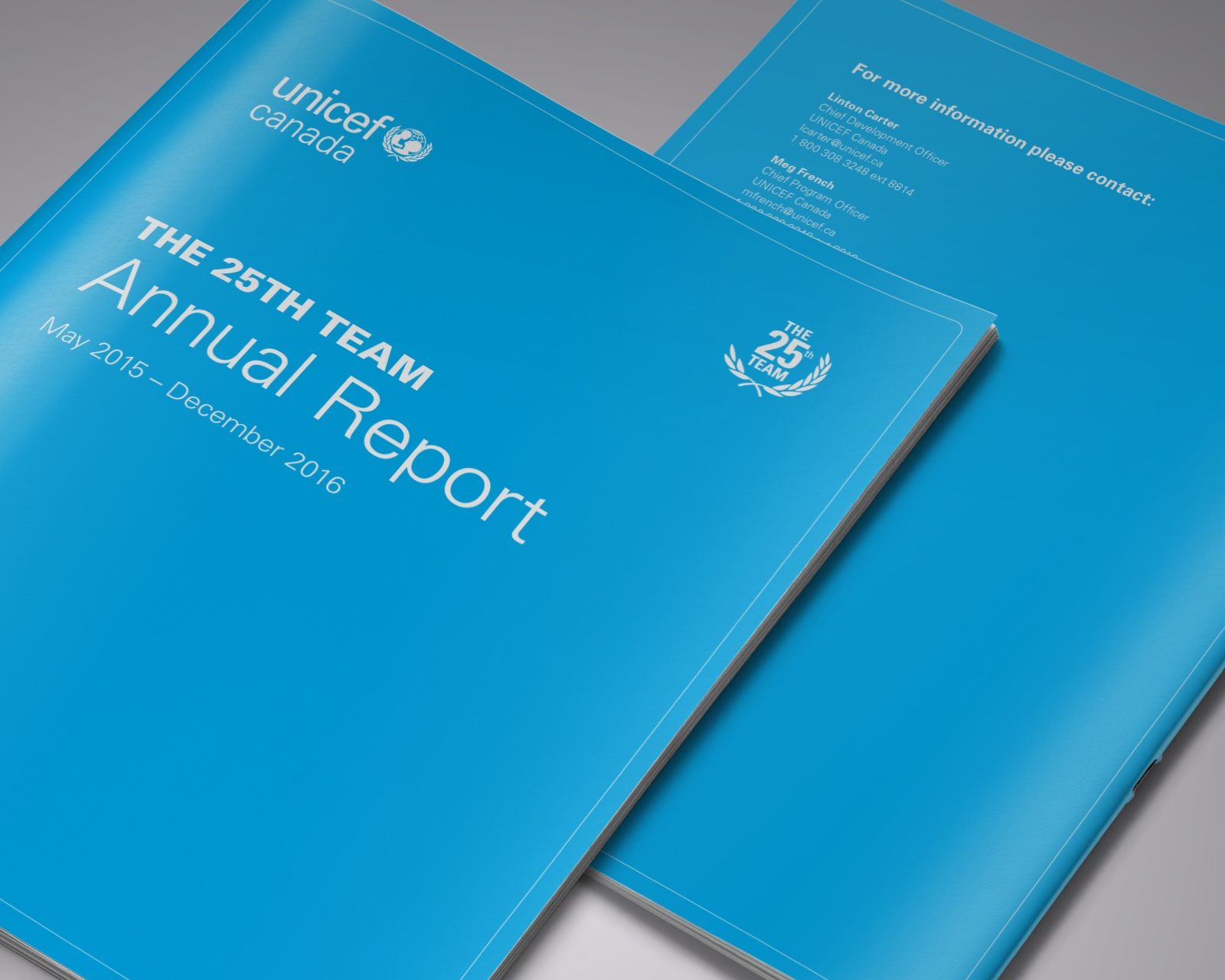 Unicef Canada – 25th Team Annual Report 2017