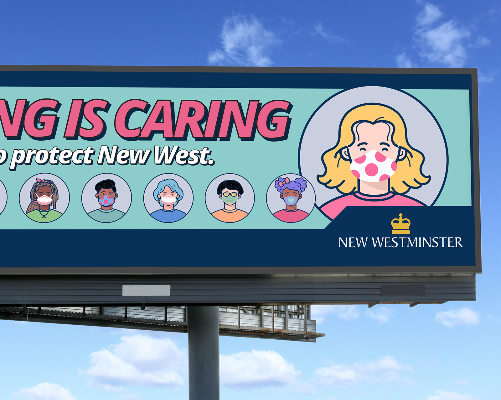 City of New Westminster Wearing Is Caring Campaign