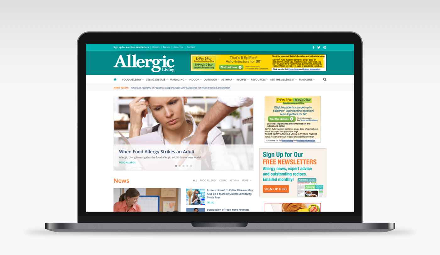 Allergic Living Website